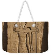 A Large Relief Of The God Horus Weekender Tote Bag