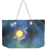 A Large Sun Is Veiled By Surrounding Weekender Tote Bag