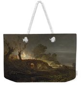 A Lime Kiln At Coalbrookdale Weekender Tote Bag by Joseph Mallord William Turner