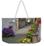 A Line Of Flowers In A French Village Weekender Tote Bag