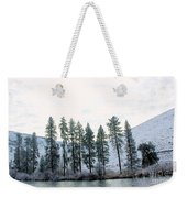 A Line Of Trees In Winter  Weekender Tote Bag