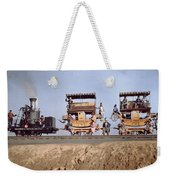 A Locomotive And Two Coaches Weekender Tote Bag