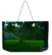 A Lonely Autumn Bench  Weekender Tote Bag