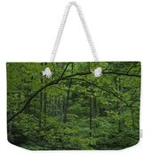 A Lush Green Eastern Woodland View.  An Weekender Tote Bag