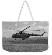 A Macedonian Mi-17 Helicopter Landing Weekender Tote Bag