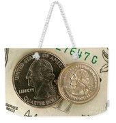 A Magnetically Shrunken Quarter Weekender Tote Bag