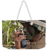 A Malaysian Paratrooper Maintains Weekender Tote Bag
