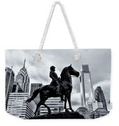 A Man A Horse And A City Weekender Tote Bag