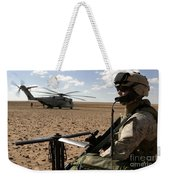A Marine Assembles A Radio Antenna Weekender Tote Bag