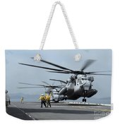 A Marine Mh-53 Helicopter Takes Weekender Tote Bag