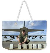 A Marine Replaces Flares In Flare Weekender Tote Bag