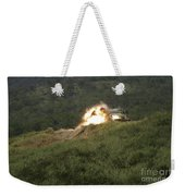 A Marine Scores A Direct Hit While Weekender Tote Bag