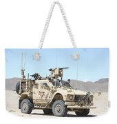 A Marine Sniper Provides Security Weekender Tote Bag