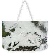 A Massive Cloudbank Sprawled Weekender Tote Bag