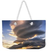 A Massive Stacked Lenticular Cloud Weekender Tote Bag by Arild Heitmann