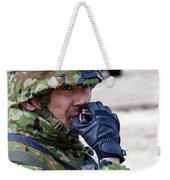 A Member Of The Japan Ground Weekender Tote Bag by Stocktrek Images