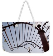 A Metal Structure That Is Part Of The Lamp Shade Arrangement In A Garden Weekender Tote Bag