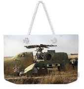 A Mi-35 Attack Helicopter At Kunduz Air Weekender Tote Bag