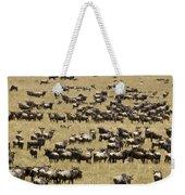 A Migrating Herd Of Wildebeests Weekender Tote Bag