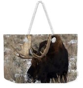 A Moose Christmas Wish Weekender Tote Bag