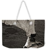 A Mother's Love Monochrome Weekender Tote Bag