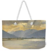 A Mountain Landscape Weekender Tote Bag by Unknown