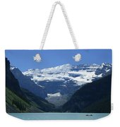 A Mountain Range With A Lake In The Weekender Tote Bag