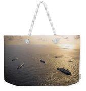 A Multi-national Naval Force Navigates Weekender Tote Bag by Stocktrek Images
