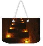 A Narrow Staircase Lit With Candles Weekender Tote Bag