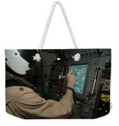 A Naval Flight Officer Tracks Aircraft Weekender Tote Bag