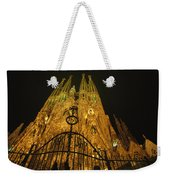 A Night View Of Gaudis Temple Expiatori Weekender Tote Bag