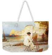 A Painter By The Sea Side Weekender Tote Bag