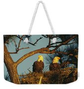 A Pair Of Bald Eagles Perch Weekender Tote Bag