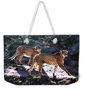 A Pair Of Cheetah's Weekender Tote Bag