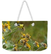 A Pair Of Goldfinches In Spokane Weekender Tote Bag