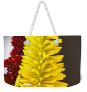 A Pair Of Yellow And Red Weekender Tote Bag