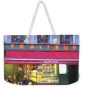A Paris Bistro Weekender Tote Bag