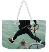 A Photographer Documents A Navy Diver Weekender Tote Bag