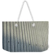 A Piece Of Metal Sheeting At A Sawmill Weekender Tote Bag