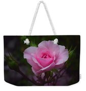 A Pink Rose Weekender Tote Bag by Xueling Zou