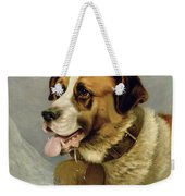A Portrait Of A St. Bernard Weekender Tote Bag by James E Bourhill