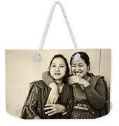 A Portrait Of Good Friends Weekender Tote Bag