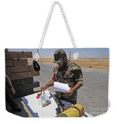 A Rebel Collects His Food Ration Weekender Tote Bag