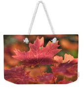 A Red Fall  Weekender Tote Bag