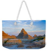 A Red Sunrise Illuminates The Hills In Weekender Tote Bag
