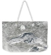 A Relatively Rare Blanket Of Ice Rests Weekender Tote Bag by Stocktrek Images