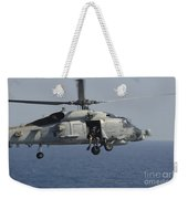 A Rescue Swimmer Prepares To Jump Weekender Tote Bag