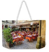 A Restaurant In Sarlat France Weekender Tote Bag