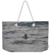 A River Otter Sticks His Head Weekender Tote Bag