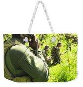 A Riverine Soldier Radios In Mock Weekender Tote Bag